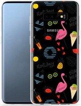 Galaxy S10e Hoesje Summer Flamingo