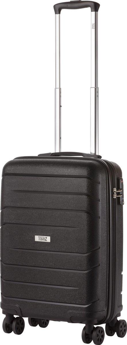 TravelZ Big Bars Handbagagekoffer 55cm met TSA-slot - Dubbele wielen - Zwart