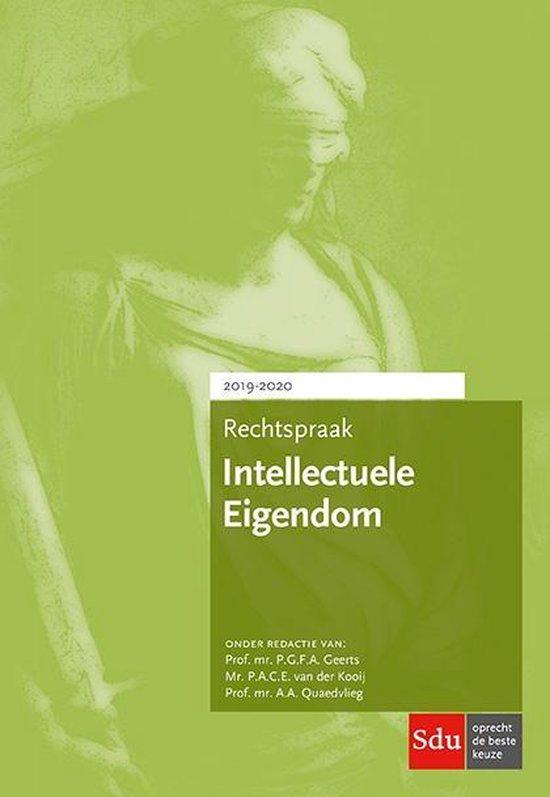 Boek cover Rechtspraakreeks  -  Rechtspraak Intellectuele Eigendom 2019-2020 van P.G.F.A. Geerts (Paperback)
