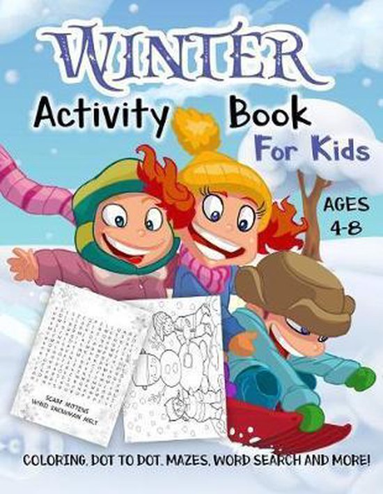 Winter Activity Book for Kids Ages 4-8