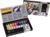 Oil Colour set 10 kleuren 20 ml tubes olieverf