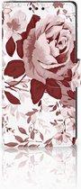 Sony Xperia XA1 Uniek Boekhoesje Watercolor Flowers