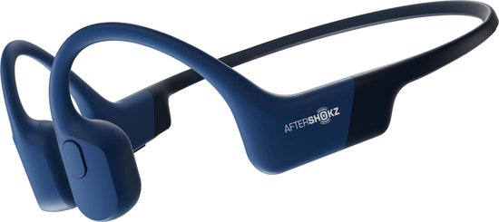 Aftershokz Aeropex - Bone conduction oordopjes met bluetooth - Blauw