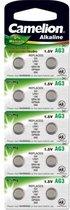 AG3 Knoopcel Batterijen LR736, LR41, G3, 192, GP92A, 392, SR41W Camelion  - 10 stuks
