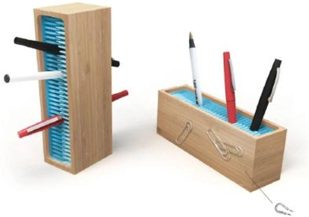 Quirky Pen Zen Penhouder organizer voor op bureau - Bamboo/Blauw - Quirky