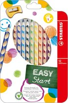 STABILO EASYcolors Linkshandige Kleurpotloden - Etui 12 Stuks