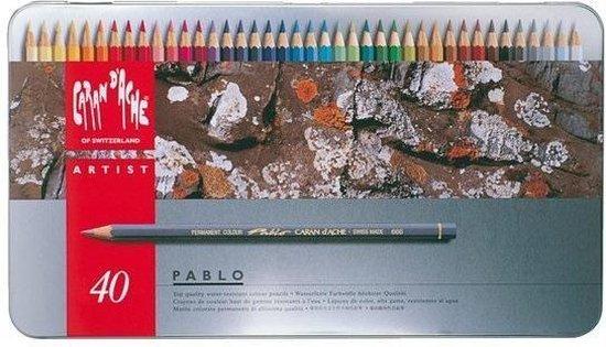 Kleurpotloden Caran D'Ache Pablo 40 potloden