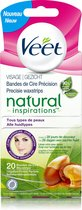 Veet Ontharingsstrips Gezicht Natural Inspirations - 2 x 20 stuks - Grootverpakking