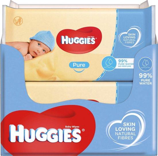 Huggies Pure Baby Wipes Billendoekjes - 99% water – 18 x 56 doekjes