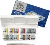 Winsor & Newton Cotman Sketchers Pocket Box Aquarelset 12 halve napjes + penseel