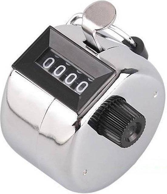 Afbeelding van Handteller -  Personenteller - 4 cijferig - Zilver