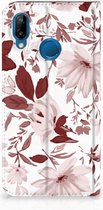 Book Wallet Case Huawei P20 Lite Hoesje Watercolor Flowers