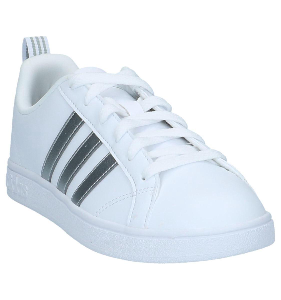 Adidas Vs Advantage W Sneaker laag sportief Dames Maat 41 Wit Running WhiteSilver Met