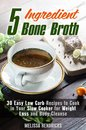Boek cover 5 Ingredient Bone Broth : 30 Easy Low Carb Recipes to Cook in Your Slow Cooker for Weight Loss and Body Cleanse van Melissa Hendricks (Onbekend)