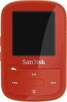 SanDisk Clip Sport Plus - MP3-speler - 16GB - Rood