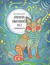 Livre de Coloriage Pour Adultes Animaux Griffonn s 1 & 2