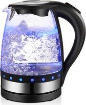 JAP WK17 - Snelle Waterkoker 1.7 Liter 2200 Watt - Glas en LED - Litermaat - Filter - Zwart
