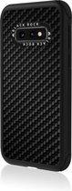Real Carbon Backcover Samsung Galaxy S10e hoesje - Zwart