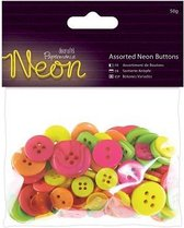Assorted Buttons (50g) - Neon
