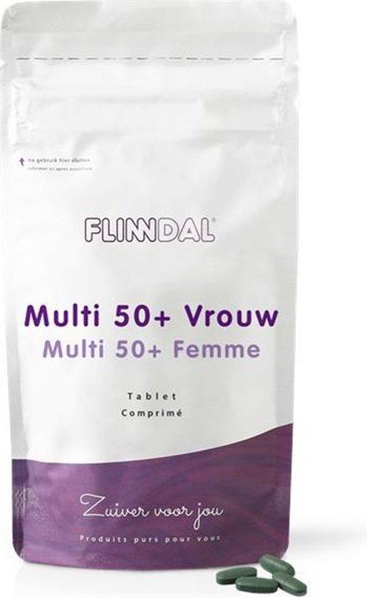 Flinndal Multi 50+ Vrouw 30 tabletten - Voor behoud van vitaliteit bij vrouwen vanaf 50 jaar - Bezorgd via de brievenbus - 7436937990955