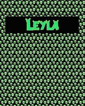 120 Page Handwriting Practice Book with Green Alien Cover Leyla