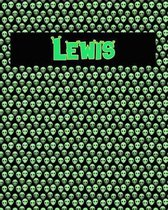 120 Page Handwriting Practice Book with Green Alien Cover Lewis