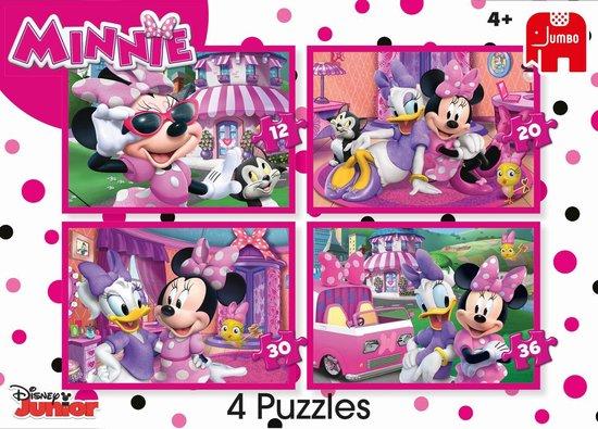 Disney Minnie's happy helpers - Set van 4 puzzels met 12, 20, 30 en 36 stukjes - Jumbo