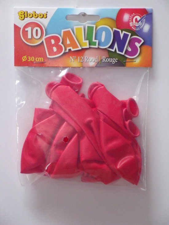 Rode Ballonnen 30cm 10 stuks