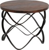 Raw Materials Factory salon tafel - 60x49 cm - Rond - Gerecycled hout