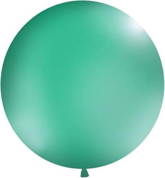 Ballonnen 1m, rond, Pastel forest groen