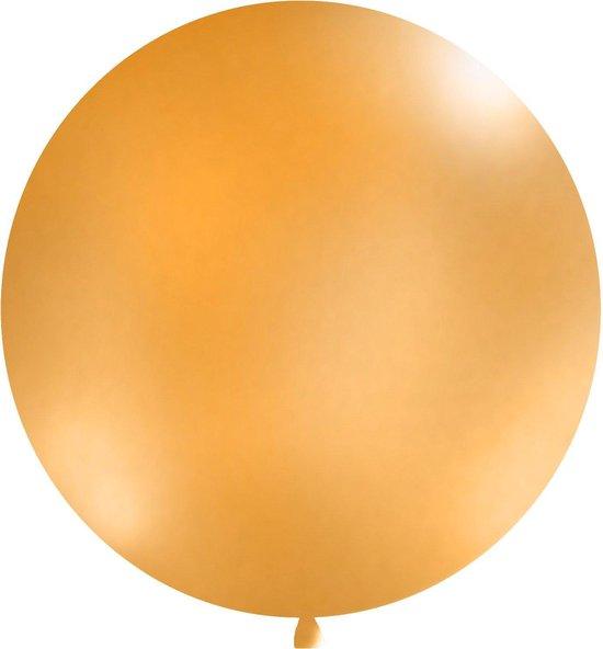 Ballonnen 1m, rond, Pastel oranje