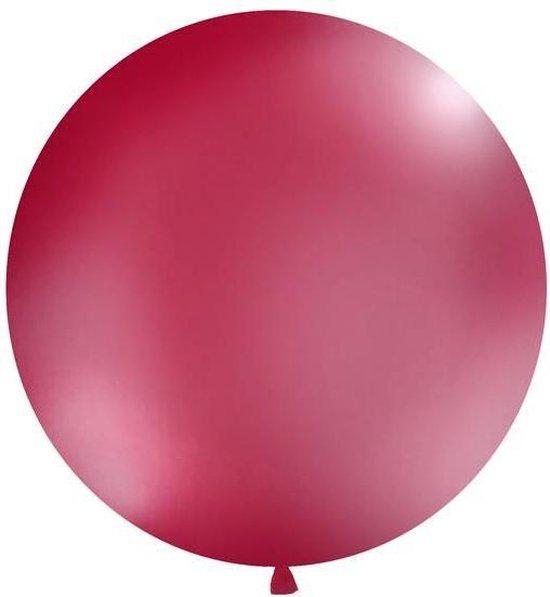 Ballonnen 1m, rond, Pastel burgundy