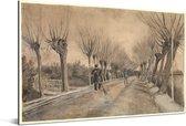 Weg in Etten - Schilderij van Vincent van Gogh Aluminium 90x60 cm - Foto print op Aluminium (metaal wanddecoratie)