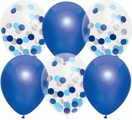 Confetti Ballonnen Marine Blauw - 6 stuks