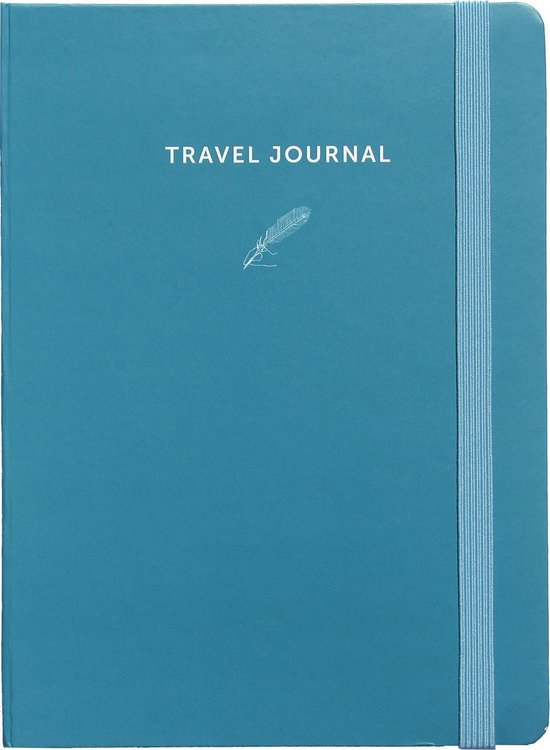 Afbeelding van A-Journal My Travel Journal - blauw - elastiek - insteekenvelop