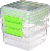 Sistema Fresh voorraaddoos - set van 3 groen - 1.2L
