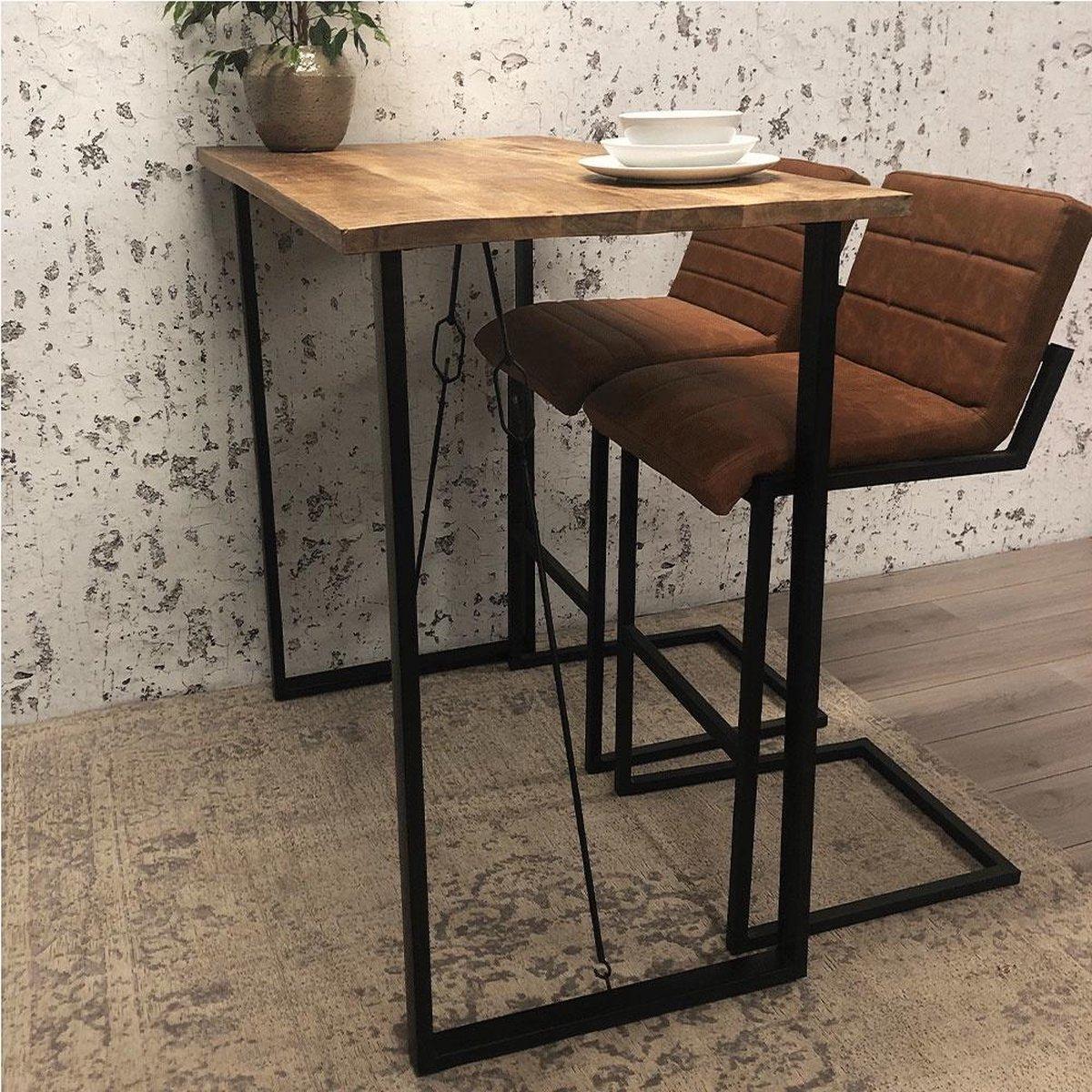 hoge bartafel mangohout   meubeldeals.nl