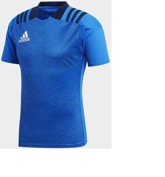 Adidas Rugbyshirt training blauw maat L