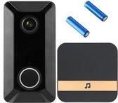 Delux V6  – Draadloze deurbel met camera – inclusief gong + 2 oplaadbare batterijen – Video deurbel