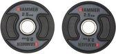 Hammer - PU - Olympische Halterschijven - per Paar - 2x 2.5 kg