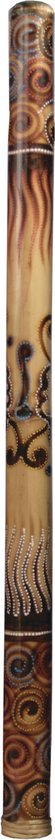 Terré bamboe didgeridoo, 120cm, geschilderd, gevlamd