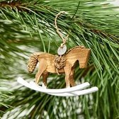 Riviera Maison Christmas Rocking Horse Ornament