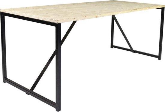 MaximaVida vurenhouten eettafel Heidelberg 180 cm - industrieel tafelonderstel