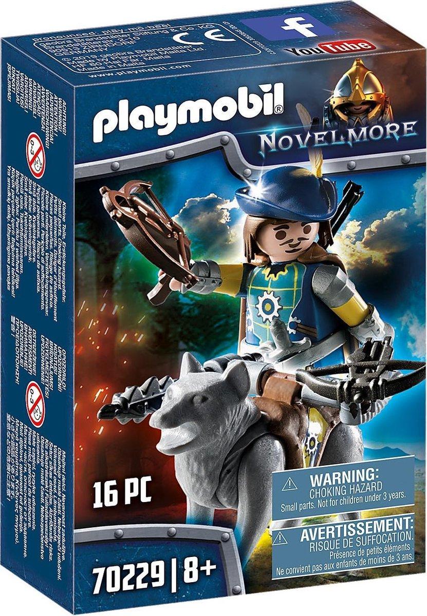 PLAYMOBIL Novelmore boogschutter met wolf - 70229