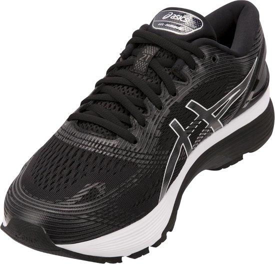 Asics Gel-Nimbus 21 Hardloopschoenen Heren Sportschoenen - Maat 42 - Mannen  - zwart/wit