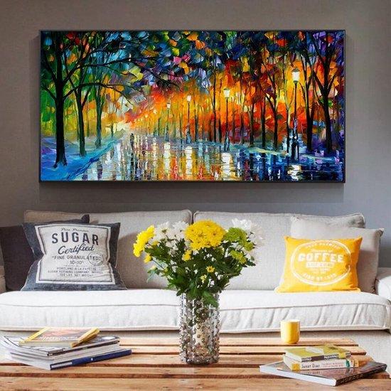 Wonderlijk bol.com | Canvas Schilderij * Abstract Landschap * - Kunst aan je QX-65