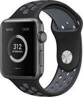 Siliconen Band Voor Apple Watch Series 1/2/3/4/5 42 MM /44 MM - iWatch Armband Polsband Strap - Zwart/Grijs
