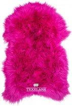Texelana geverde schapenvacht roze Maat XL