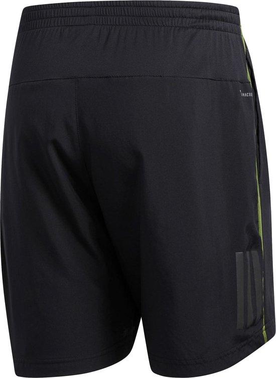 adidas OWN THE RUN SH Heren Sportbroek - Black/Tech Olive - Maat M