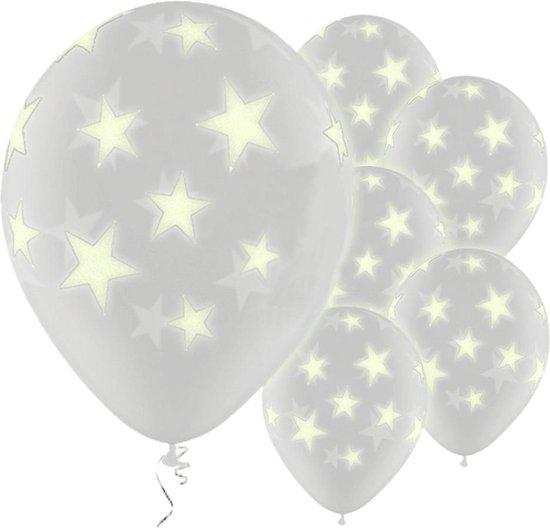 Ballonnen Glow In The Dark Sterren - 6 stuks